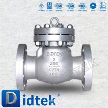 Didtek API6D Qualidade Européia Aço Inoxidável Cast 3 Inch Swing válvula de retenção de água quente
