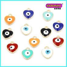 Manufacturer Wholesale Custom Evil Eye Colorful Enamel Charm