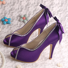 High Heel Lila Party Schuhe für Damen