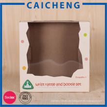 Angepasste Kinder Spielzeug gedruckt Logo Papier Box mit PVC-Fenster