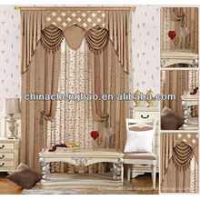 Diseño de la cortina de la sala de estar de lujo clásico y elegante