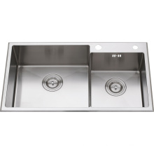 S2104 Stainless Steel Double Bowl Handmade Sink
