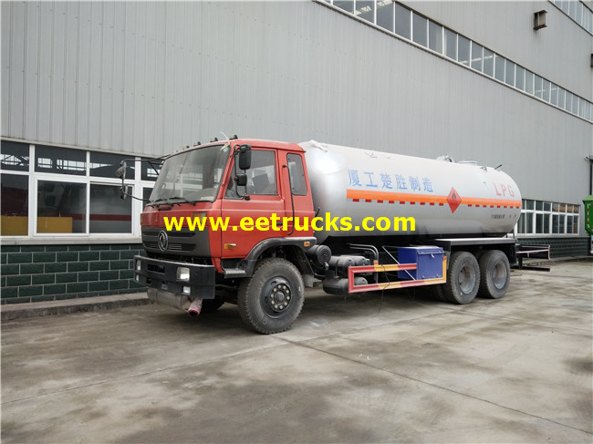 5000 Gallons 10ton LPG Delivery Tanker Trucks