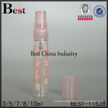 2ml/3ml glass perfume vial, brand perfume tube bottle with pink flower printing