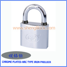 Cadeado cromado impermeável do ferro do tipo do arco da fábrica
