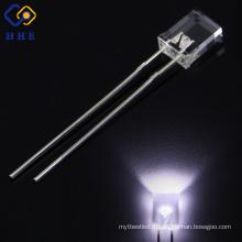 Haute luminosité carré conduit 2x3x4mm couleur blanche 2800-3000K eau clair lentille