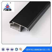 Black powder coating aluminum door profile extrusion