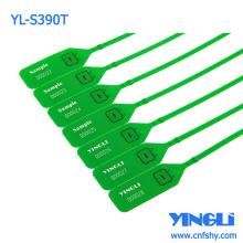 Etiqueta descartável de vedação de plástico personalizada com inserto de travamento de metal