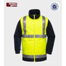 Herren Abnehmbare Ärmel mit hoher Sichtbarkeit Hi-Vis 3m Sicherheitsjacke mit EN20471