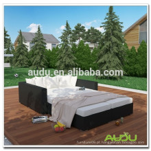 Audu Patio Bed Home Resin Wicker Outdoor Daybed