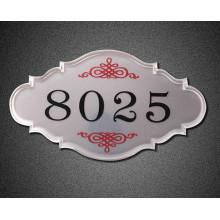 Numéro de chambre Restaurant Plaque acrylique de haute qualité