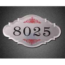 Restaurant Room Number High Quality Acrylic Sign