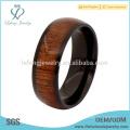 Neue Ankunft schwarzes Titan und Holz Ringe für Männer, Holz Inlay Ringe für Männer