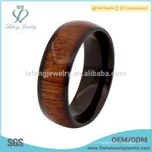 Новые кольца из черного титана и дерева для мужчин, кольца из дерева для мужчин