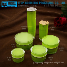 Special recommended hot-selling classical taper round double layers acrylic lotion bottle and jar cosmetic creams packaging