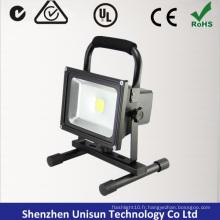 AC100-240V Rechargeable 20W 120degree LED Flood Light avec base magnétique