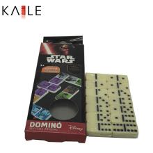 Juego de domino de marfil personalizado clásico con caja de cartón divertida