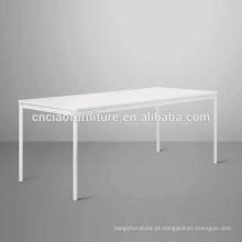 Tampo de mesa de jantar de mármore moderno exterior moldura de alumínio