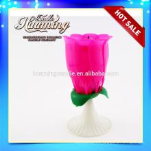 8 velas de la música de fuegos artificiales feliz cumpleaños vela flor rosa