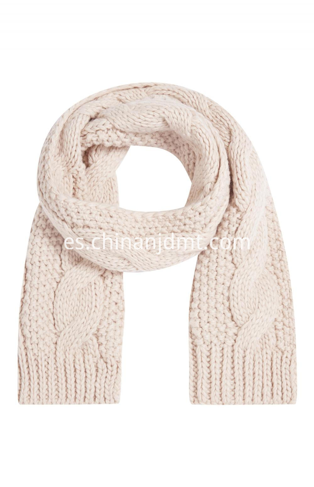 Blush Cable Knit Scarf