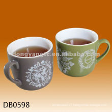 Decal design glossy glazed ceramic advertising mug