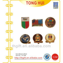 Impresión a todo color y mancuernas de metal de cúpula epoxi para regalos Premium