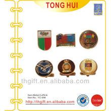 Impression de couleurs complètes et boutons de manchette en métal Epoxy dôme pour cadeaux de qualité supérieure
