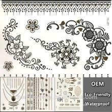 Kundenspezifischer metallischer Tätowierungaufkleber YS031