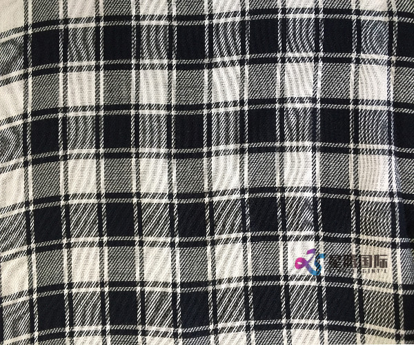 Tencel Black Plaid Fabric