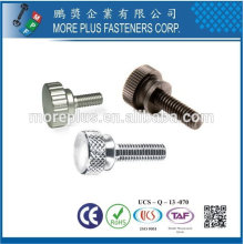 Taiwan Stainless Steel Copper Nylon Plastic Knurled Thumb Knurled Button Knurled Screw