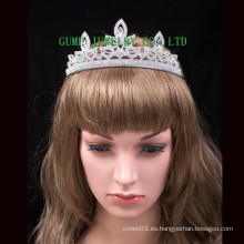 Pierda la tiara del mundo Tiara del Rhinestone Cristal Corona