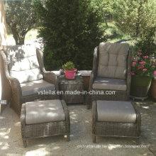 Garten im Freien Patio Wicker Rattan Sofa Set