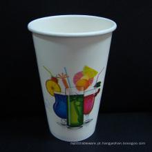 Copo de papel para o suco \ bebidas frias na venda quente