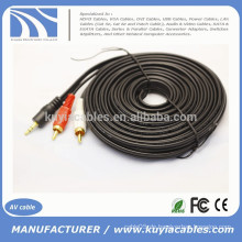 Kuyia 3.5mm Stecker auf 2RCA CABLE Audio Kabel 5M