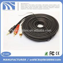3.5mm a 2rca av cable audio 5ft