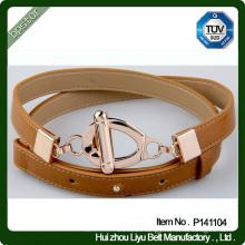 Eco-friendly PU belt female belt narrow belts CE ROHS SGS satisfied