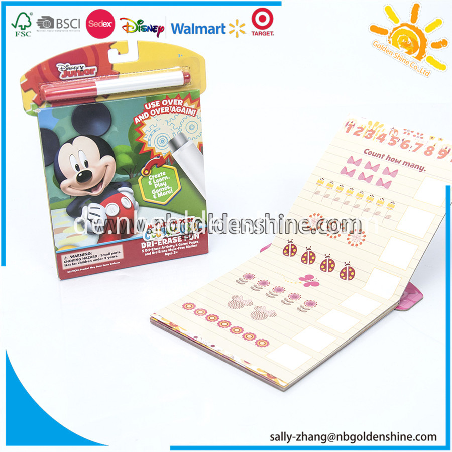 Mickey Mouse Dry Erase Book