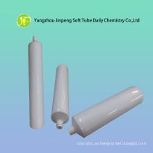 Aluminio y tubo blanco de plástico para crema cosmética