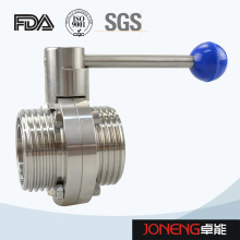 Stainless Steel Food Equipment Manual Threaded Butterfly Valve (JN-BV1001)