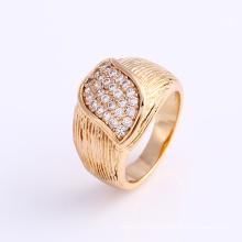 Anillo de dedo de la joyería de la CZ del oro de la moda 18k en la aleación para las mujeres -12001