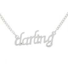 Top vendendo imagens Darling de colares de prata, jóias colares injector para as mulheres