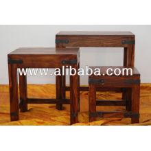 Sheesham madeira ninho de mesa