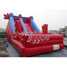 Red Spider Man Kids Inflatable Slides CE UL , Large Inflata