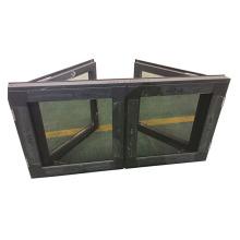 European standards high quality aluminium alloy frame french casement window with diamond mesh window