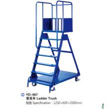 Carrinho de caminhão de escada de armazenamento de aço de armazém pesado