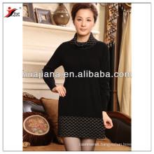 fashion women cashmere winter knitting dress