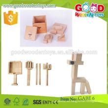 Nuevos bloques de construcción del estilo Bloques de construcción de madera del OEM niños bloques de construcción de los juguetes inteligentes