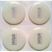 Étiquette en cristal imperméable de NFC en gros de Shenzhen pour le paiement / étiquette claire claire imprimée de RFID pour le contrôle d'accès