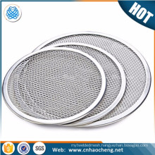 Alibaba China 6 10 12 13 16 18 20 24 inch food grade stainless steel wire mesh screen tray for barbecue grill and pizza