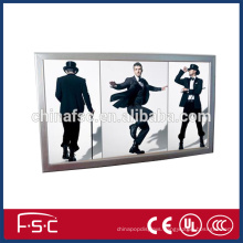 Restaurant menu tablet light frame slim snap open aluminum light box
